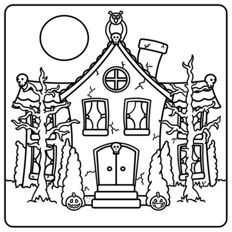 haunted tree coloring page 73 best images about w drawing spooky houses on pinterest