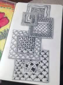 zentangle pattern squares zentangle squares 1 gwen lafleur my art journal
