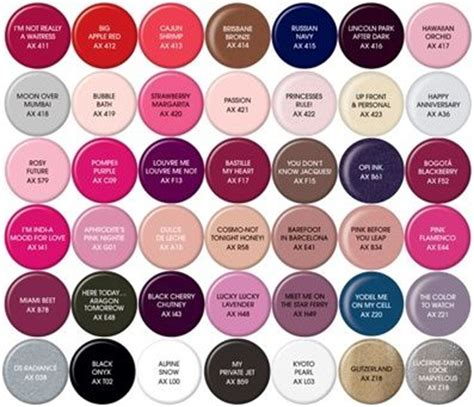 opi nail color names opi gel color chart my style in 2019 opi gel nail