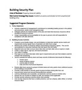 security templates sle security plan template 10 free documents in pdf