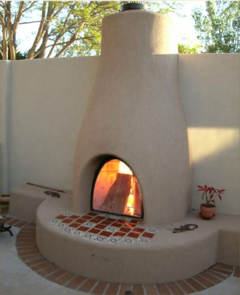 Mexican Outdoor Chimney Best 25 Southwestern Outdoor Fireplaces Ideas On