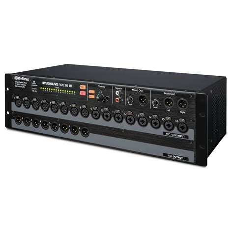 presonus studiolive rml16ai rack mount digital mixer at