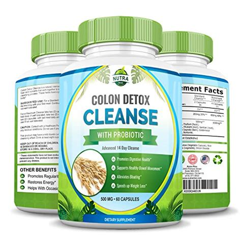 Colon Cleanse Detox And Revitalize by Colon Detox Cleanse With Probiotic For Weight Loss 100