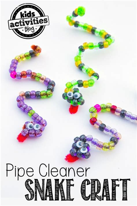 beadwork for kids pipe cleaner craft beaded snakes crafts crafts