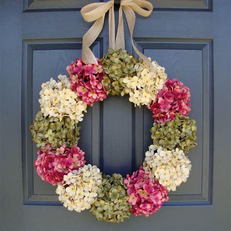 spring wreaths for door door wreaths front door hydrangea wreath wreaths door
