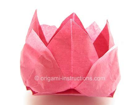 Paper Napkin Flower Folding - origami tissue lotus folding origami napkin