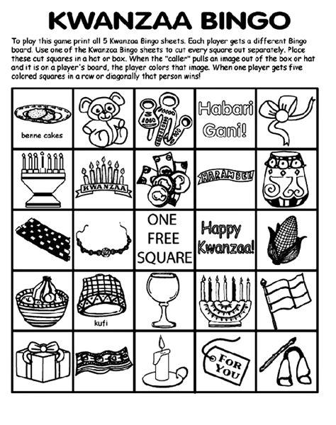 printable kwanzaa games kwanzaa bingo board no 4 crayola com au