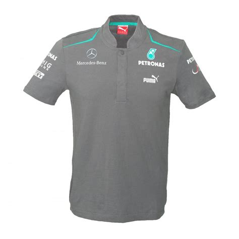 Kaos Polo Polo Shirt Jaguar mercedes amg mercedes amg petronas mens polo shirt 2013
