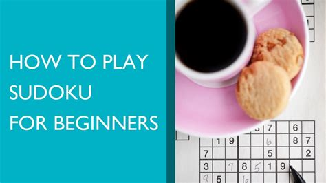 to play how to play sudoku for beginners