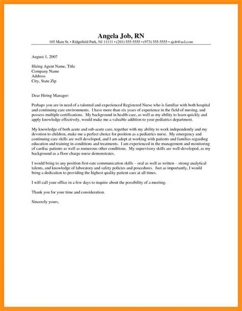 entry level nurse cover letter memo exle