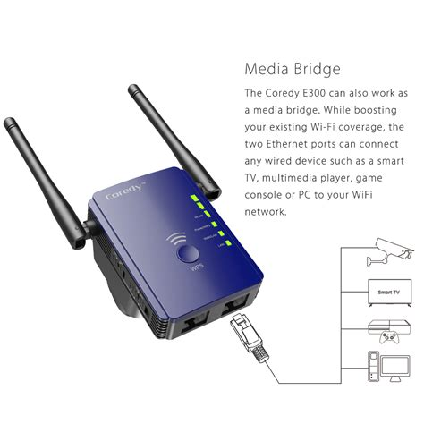 wireless extender with ethernet e300 wifi extender products coredy connect your smart