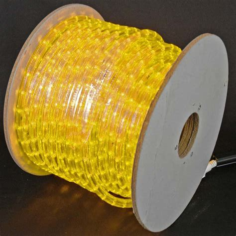 150 led yellow rope light spool 1 2 inch 120 volt