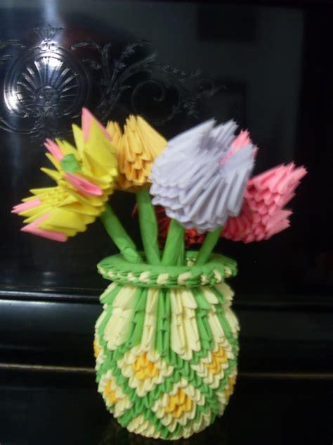 Origami 3d Flower Vase - flower vase album madushi hettige 3d origami