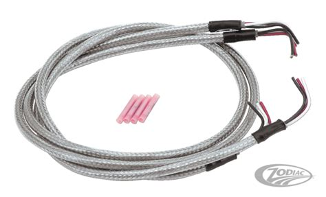 stainless steel braided wiring harnesses zodiac