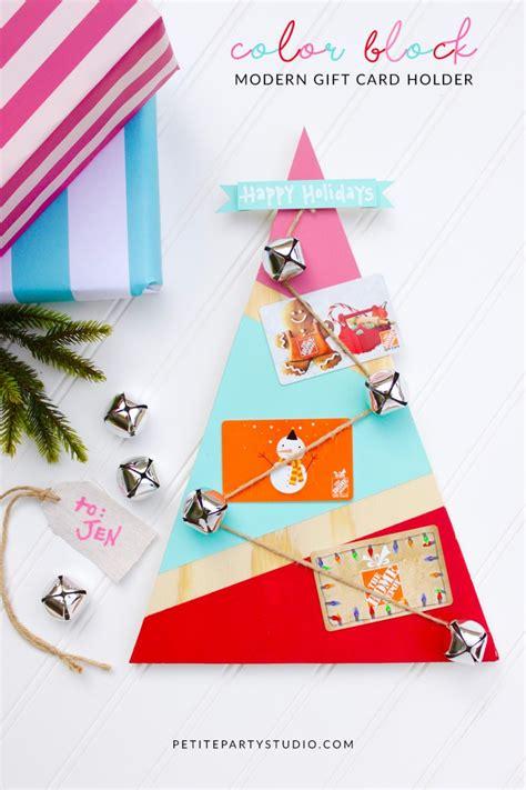Modern Gift Cards - modern color block gift card holder