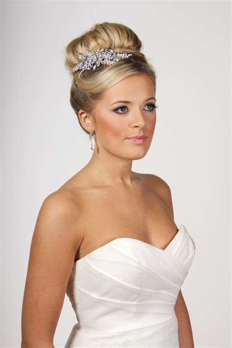 Wedding Hair Up With Side Tiara by Side Tiara Richard Designs