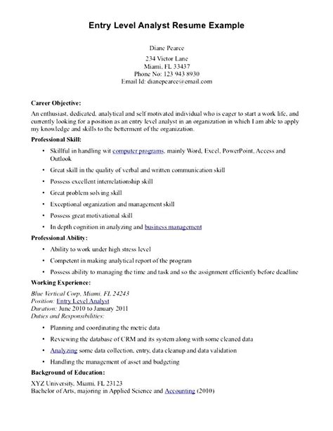 10 data analyst resume sle 28 images entry level data analyst resume 38 images professional