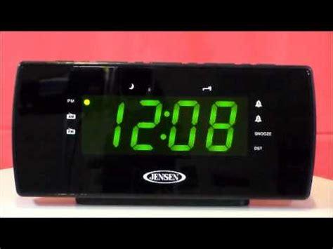 jcr 230 auto set dual alarm clock radio