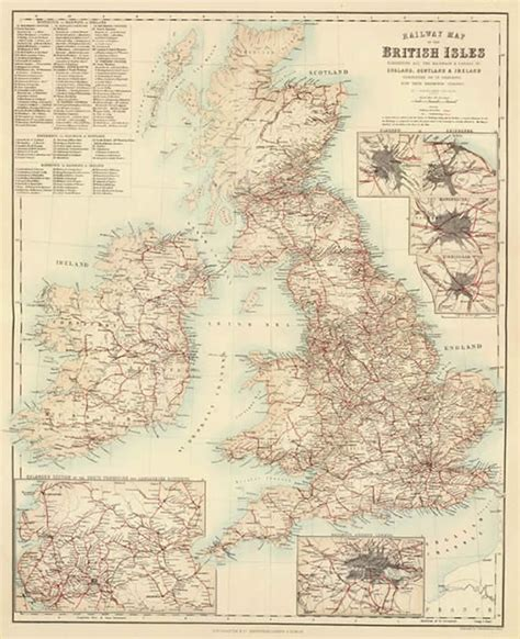 Unusual Home Plans by Old Railway Map Canals Of Great Britain