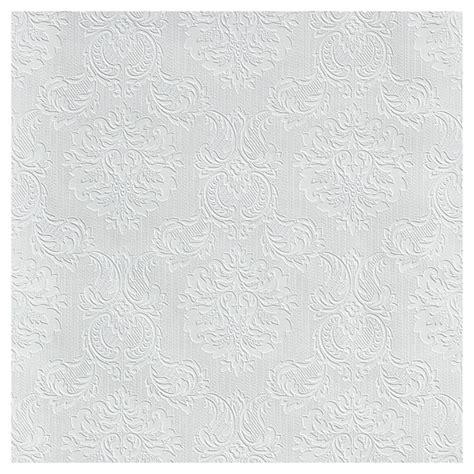 Papier Peint à Peindre by Papier Peint 224 Peindre 224 Motif Damass 233 20 5 Quot X 33 Blanc