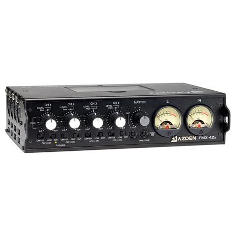 Mixer Audio Mixer Audio azden fmx 42a mixer w 10 pin return barndoor