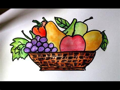 3 Buah Kuas Untuk Melukis Nail cara mudah menggambar buah buahan dalam keranjang