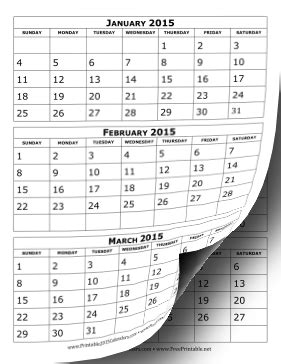 2018 no frills basic monthly calendars big date boxes