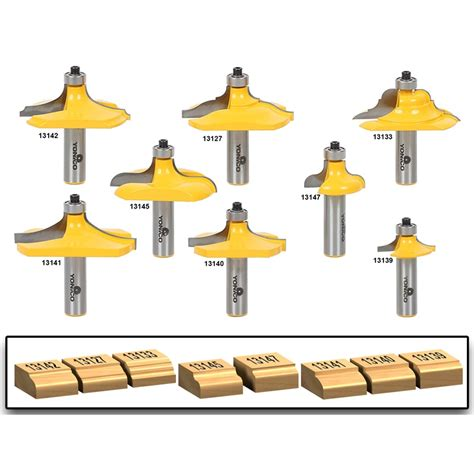 table edge router bit 8 piece table edge hand rail molding router bit set 1 2