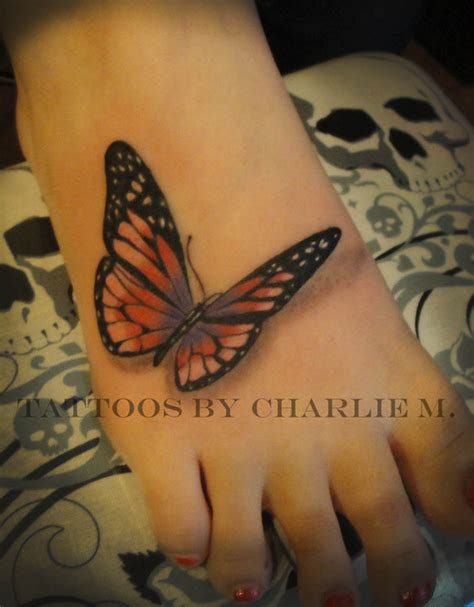 butterfly tattoo on foot butterfly tattoos and designs page 504