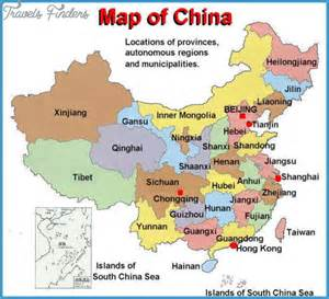 china map and cities travel map vacations