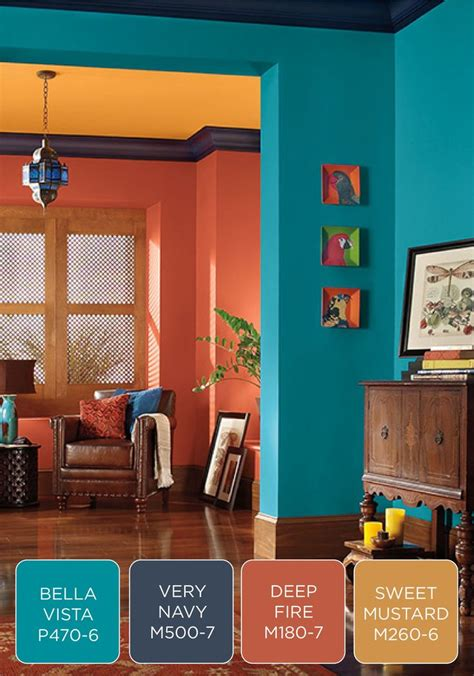 bold color combinations make a bold statement in your entryway with a colorful