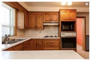 How To Update Kitchen Cabinet Doors 80 S Oak Kitchen Needs Short Term Paint Facelift Makeover