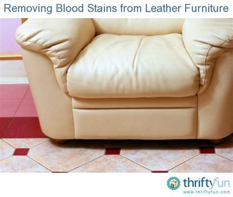 how to remove couch stains removing blood stains from leather furniture thriftyfun