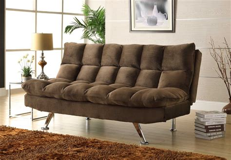 homelegance jazz click clack sofa bed chocolate