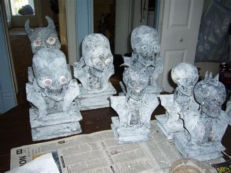 How To Make A Paper Mache Bust - these are a bunch of busts i did for wig heads
