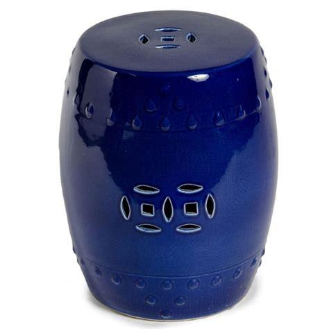 bright blue porcelain garden stool garden decor the