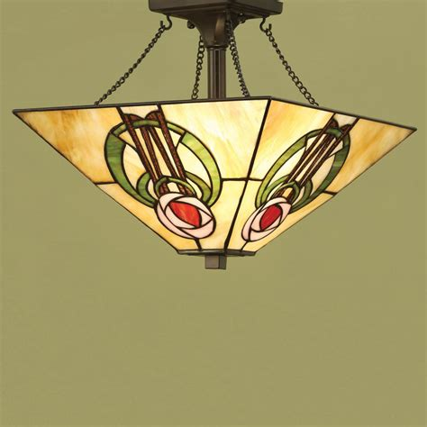 Arts And Crafts Pendant Light Arts And Crafts Semi Flush Uplighter Ceiling Pendant Light