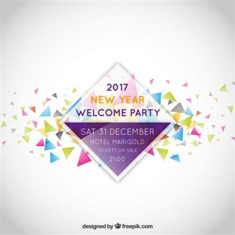 new year label vector new year invitation label vector free