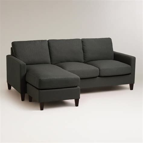 charcoal grey sectional sofa tourdecarroll com