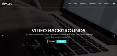 muse themes video background skywell premium multipurpose adobe muse template
