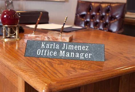 personalized name plaques for desk personalized solid granite desk name plaque