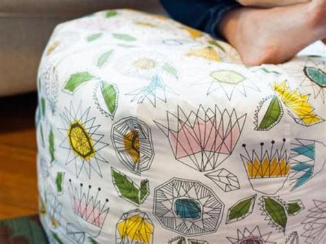 how to make a fabric pouf ottoman hgtv ottomans furniture and decor ideas hgtv
