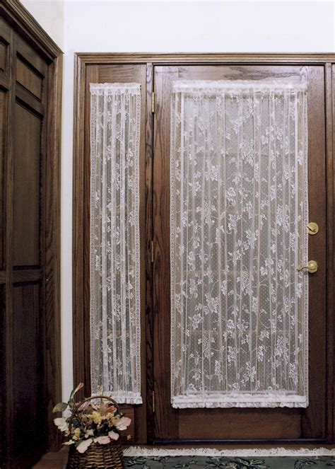 Curtains For Entrance Door Sidelight Panel Heritage Lace