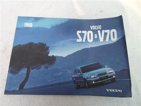 1998 volvo s70 owners manual purchase 1998 volvo s70 v70 original owners manual oem