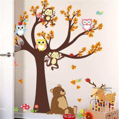decorar hoja arbol vinil para decorar paredes arbol infantil hojas naranjas