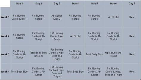 Hip Hop Abs Calendar Hip Hop Abs Workout Schedule New Calendar Template Site