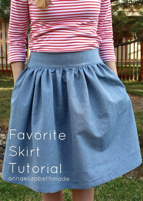 pattern skirt pinterest my favorite skirt tutorial anna elizabeth made sew
