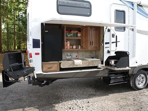 Rear Kitchen Rv Floor Plans 10 Rvs With Amazing Outdoor Entertaining Amp Kitchens
