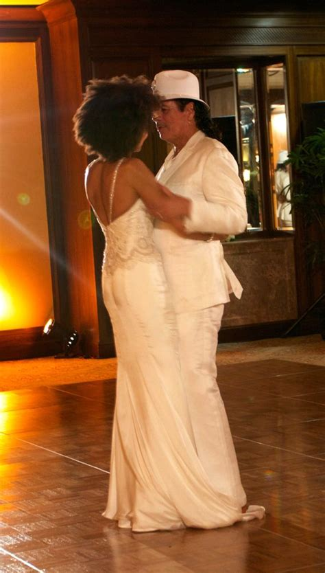 Cindy Blackman and Carlos Santana at their wedding