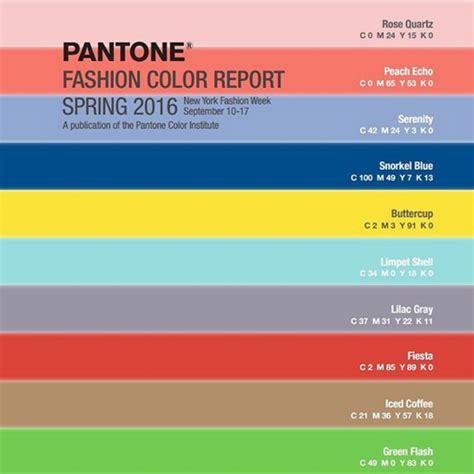 colour trends 2016 s s 컬러 트렌드 팬톤이 선정한 올해의 컬러